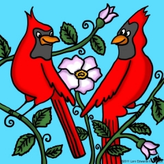 Two Cardinals Haiku (Berry Blue Haiku)
